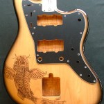 Gallery dark artz woodburning for Koi fish guitar